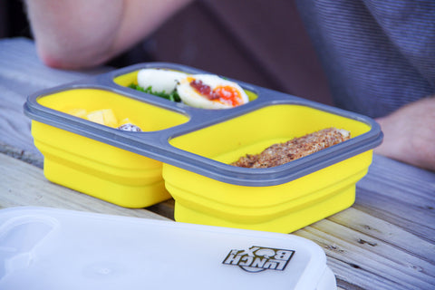 Silicone Bento Lunch Box Yellow