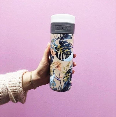 Kambukka ETNA 3-in-1 Snapclean Stainless Steel Travel Mug 500ml - Paridise Flower
