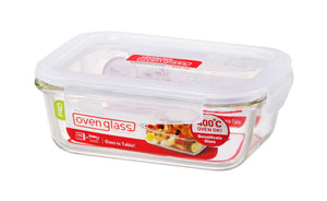 Rectangle Glass Container - Euro Heat- 630ml