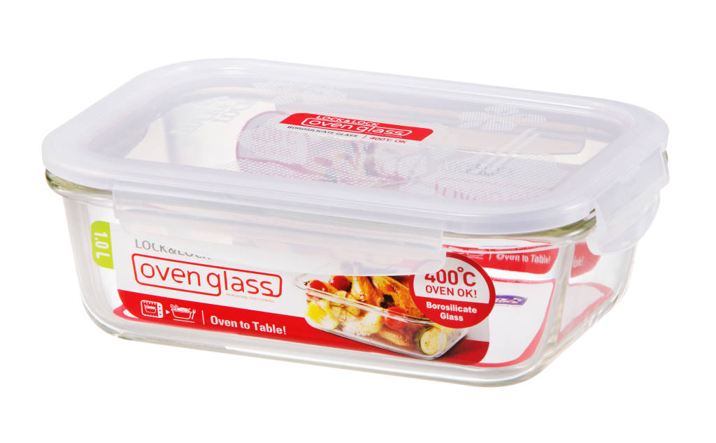 Rectangular Glass Container - Euro Heat- 1L