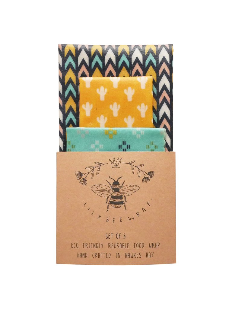 Lily Bee Beeswax Wrap - Desert Road - Set of 3