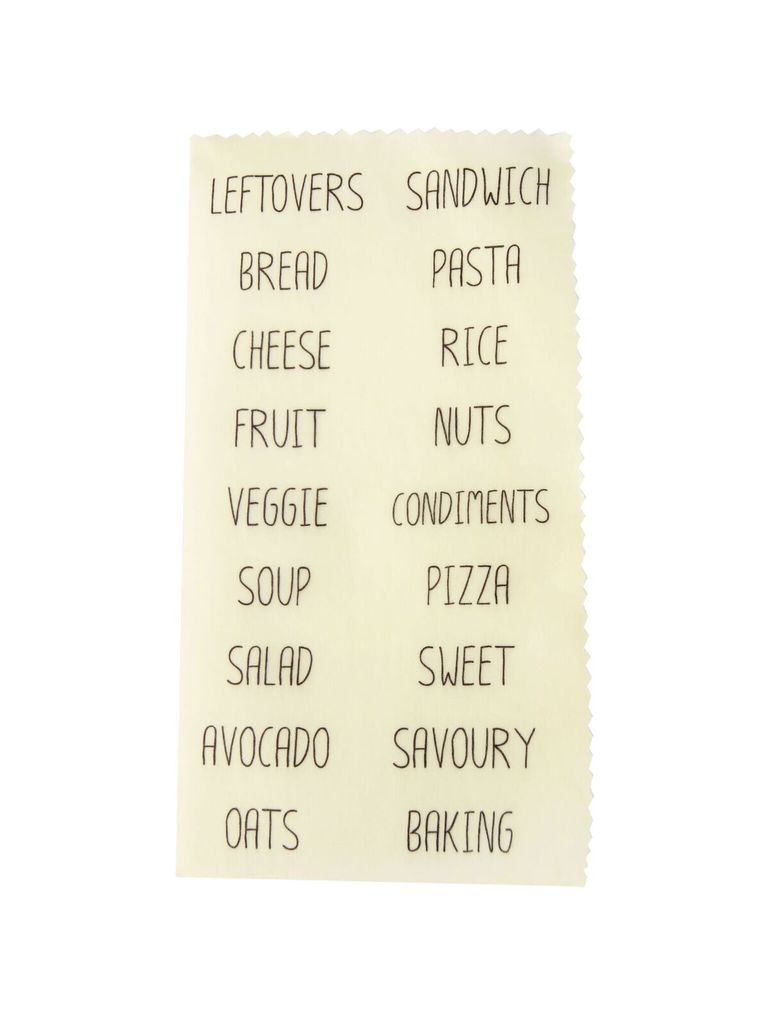 Lily Bee Beeswax Wrap Food Labels