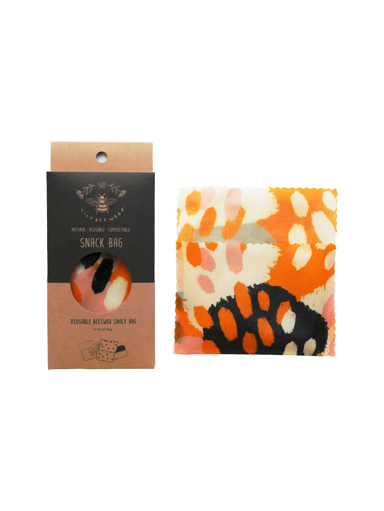 Lily Bee Beeswax Wrap - Leopards Daughter - Small Snack Bag