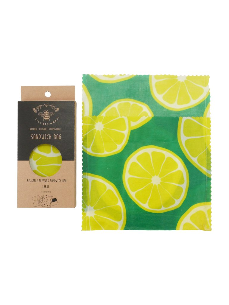 Lily Bee Beeswax Wrap - Limes - Large Sandwich Bag