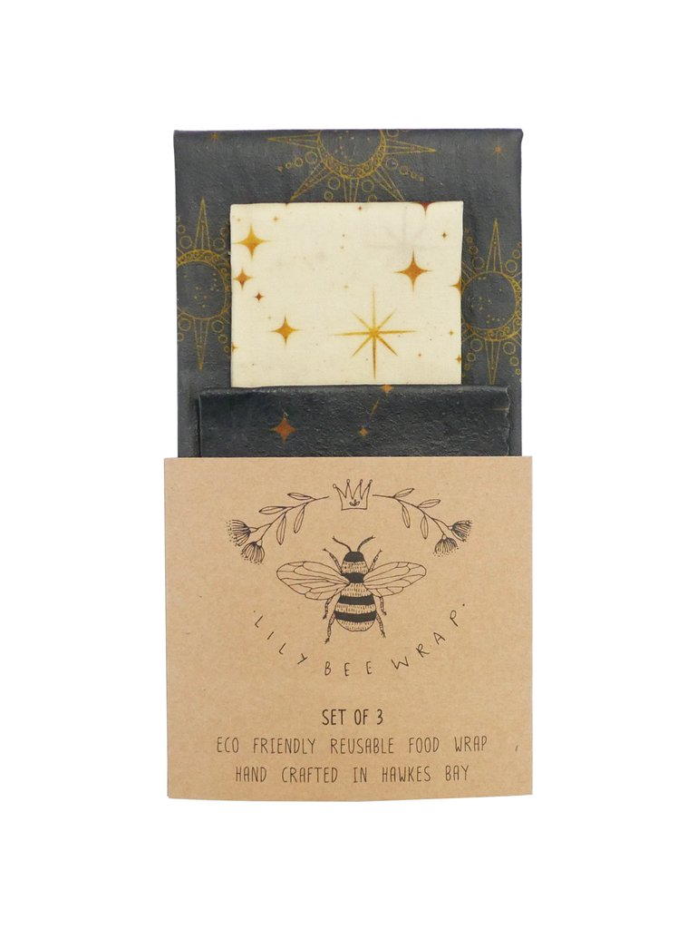 Lily Bee Beeswax Wrap - Matariki - Set of 3