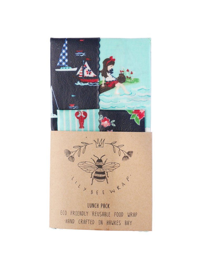 Lily Bee Beeswax Wrap - Meet by the Sea - Lunch Pack