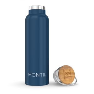 MontiiCo Insulated Stainless Steel Drink Bottle - 600ml - Navy