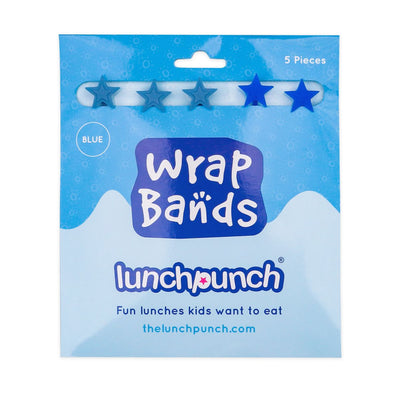 Lunch Punch Blue Wrap Bands - set of 5