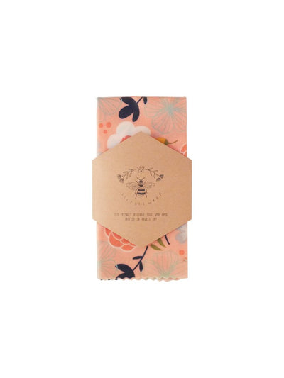 Lily Bee Beeswax Wrap - Feeling Peachy - Large Single