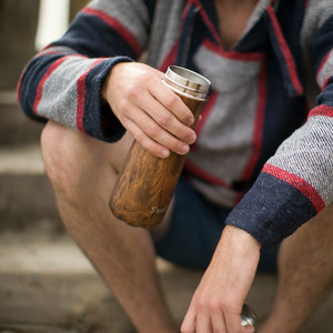Traveller Wood Collection Insulated Bottle - Teakwood 590ml