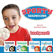 Sandwich Cutter Shapes - Lunch Punch Sporty Sandwiches (Set of 4)