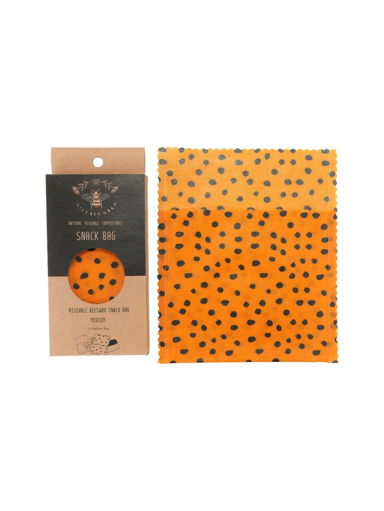 Lily Bee Beeswax Wrap - Spots  - Medium Snack Bag
