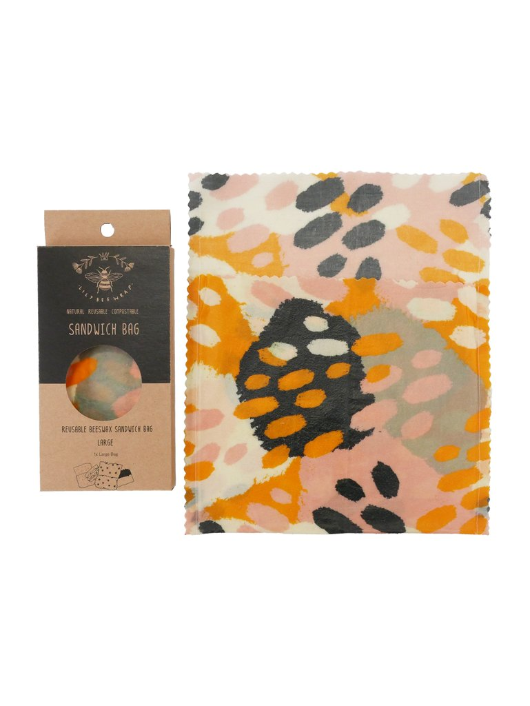 Lily Bee Beeswax Wrap - Stripes - Large Sandwich Bag