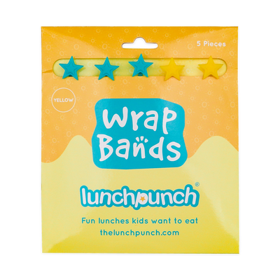 Lunch Punch Yellow Wrap Bands - set of 5