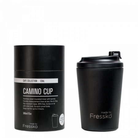 Fressko Camino Stainless Steel Coffee Cup – Coal - 340ml