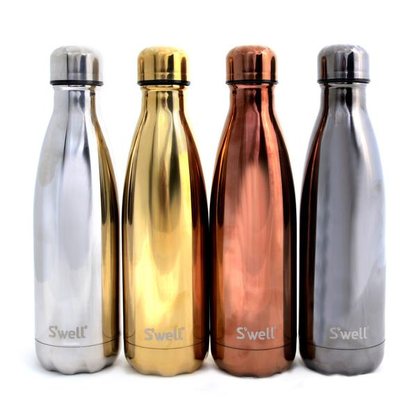 S Well Drink Bottle Nz Glitter Collection Yellow Gold