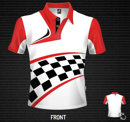 Moto Grid Revert Polo - Short Sleeve