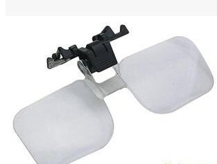 Clip-On Glasses Magnifier Magnifying Lens - Folding Head magnifier for Spectacles