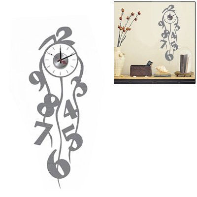 Fashionable DIY Wall Sticker Clock Home Decoration
