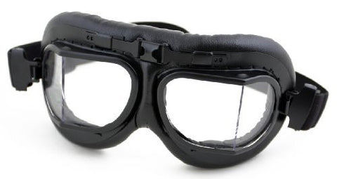 HUMVEE - Black clear motorcycle Goggles - Adjustable with UV protection