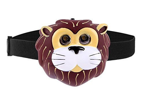 Animal Head Lamp - Fun Children's hands free torch light. Choose from Lion, Frog, Panda or Puppy