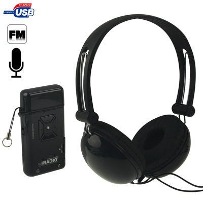 A650 USB Magic Sound Virtual Wireless DJ FM Radio, Support Microphone - Sound Blaster with headphones