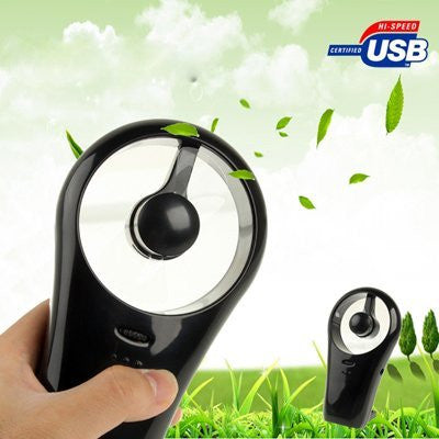 Mini USB / Battery Fan with Stand, Black