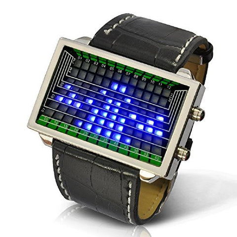 Futuristic Space fans LED Light Watch - Japanese Style Cool Blue Light-up watch
