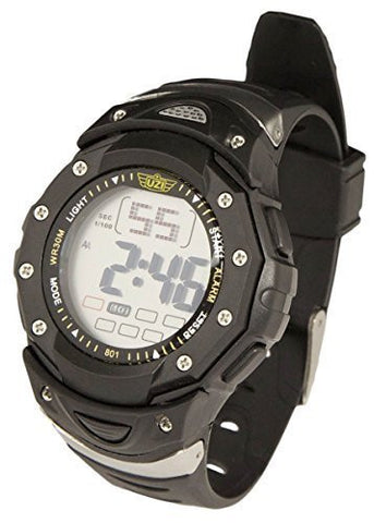 UZI Digital Sports Watch - Mans Wristwatch with Alarm - Water Resistant - Back Light