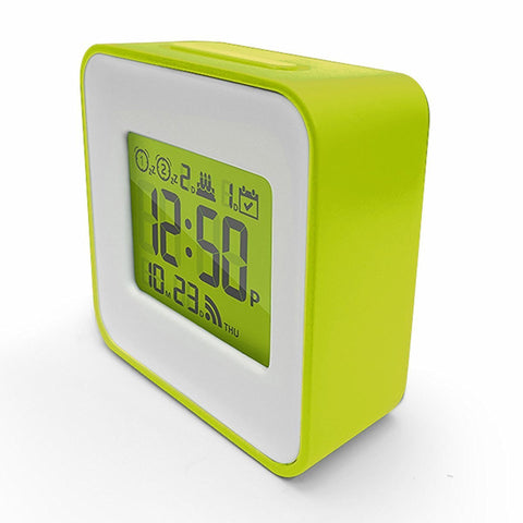 Smart Travel Alarm Clock, Automatically set your Clock and Alarm through your Smart Phone, Iphone iOS and Android Compatible