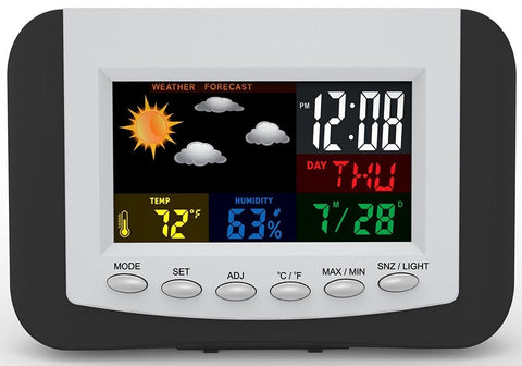 Colour Weather Station Clock with Calendar