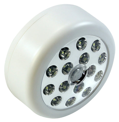 Motion Sensor PIR Light - Super Bright LEDs - comes on automatically when motion is detected - battery powered - for cupboards, wardrobes -White Case