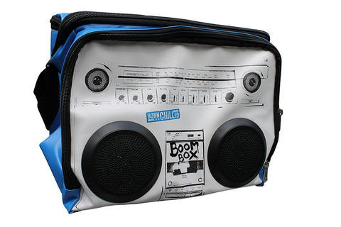 Cool Bag Sound System - Boom Box Cooler Bag - Picnic Bag with Speakers - use MP3 player, iPhone, iPod,, Smartphone - holds up to 12 x 330ml Bottles