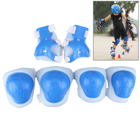 TechAffect ® Elbow, Knee & Wrist Protection Pads Set for Skateboarding, skating, roller blading,cycling etc. (Blue)