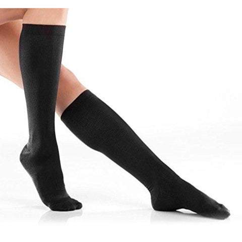 Compression Socks for Men or Women - One Size Fits Most - Black