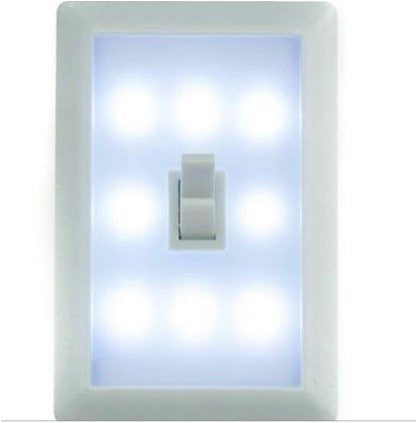 Night Light Wall Switch - Single Wireless Battery LED Lamp. Ideal Children's Bedroom Nightlight