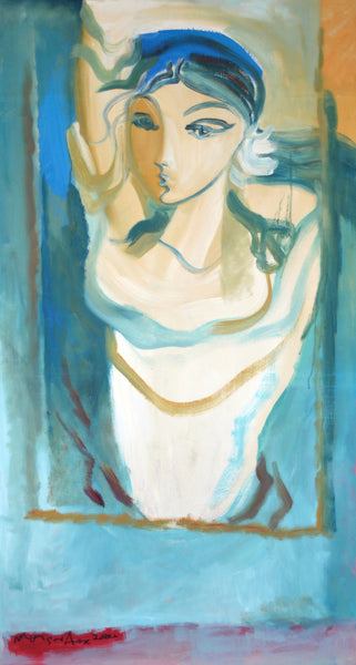 Untitled 2000, Oil on canvas figurative painting by Mansur Aye