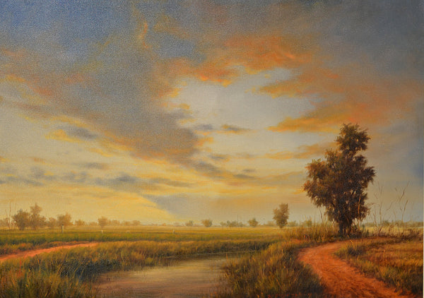 Untitled, Oil on canvas landscape painting by Zulfiqar Ali Zulfi (42 x 30 in)