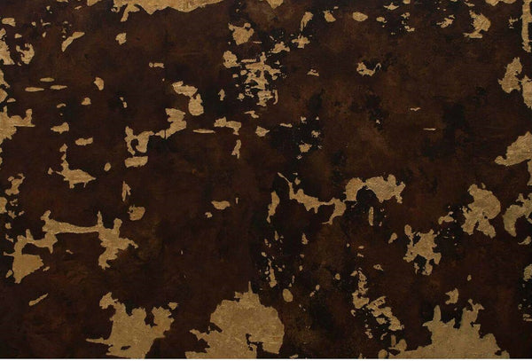 Untitled, Rasin, Goldleaf and Oil on Canvas abstract painting by Ehsan Memon (36 x 54 in)