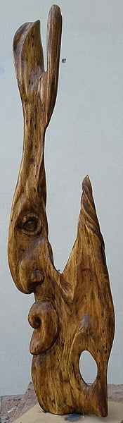 Spirit of Tree II, Dead wood sculpture by Abbas Shah (24 x 6 x 4 in)