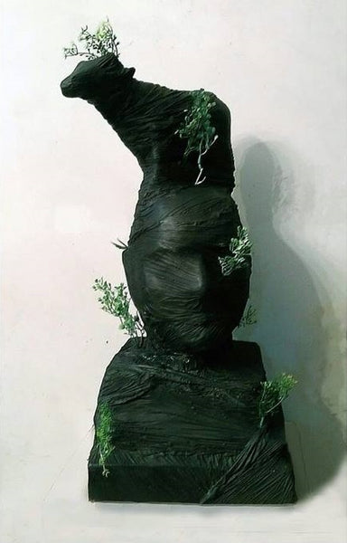 Shad Baad Manzile Murad, Fiber Glass Paint and Plastic portrait sculpture by Munawar Ali Syed (22 x 10 x 8 in)