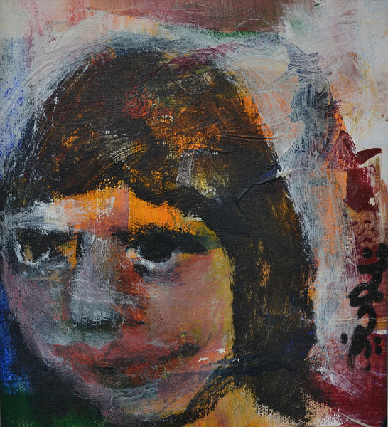 Malala, oil on canvas figurative painting by Tassaduq Sohail & Riaz Rafi