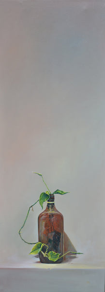 Untitled, oil on canvas, still-life painting by Aqeel Javed (48 x 18 in)