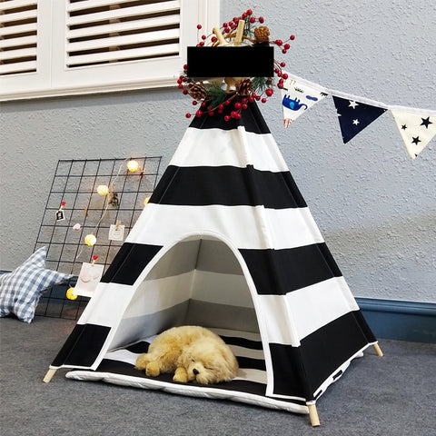 Zebra Pet Teepee