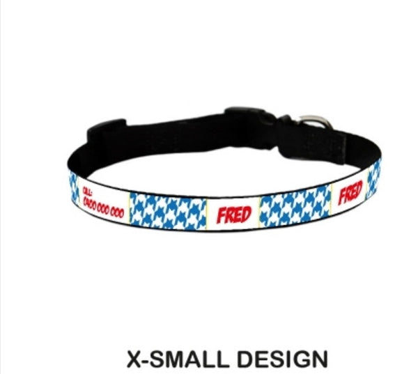 Blake Houndstooth Personalized Pet Collar