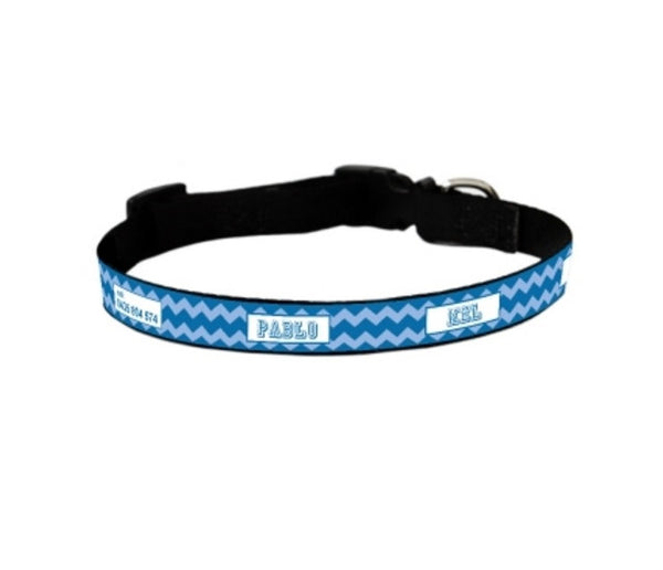 Chevron Personalized Pet Collar