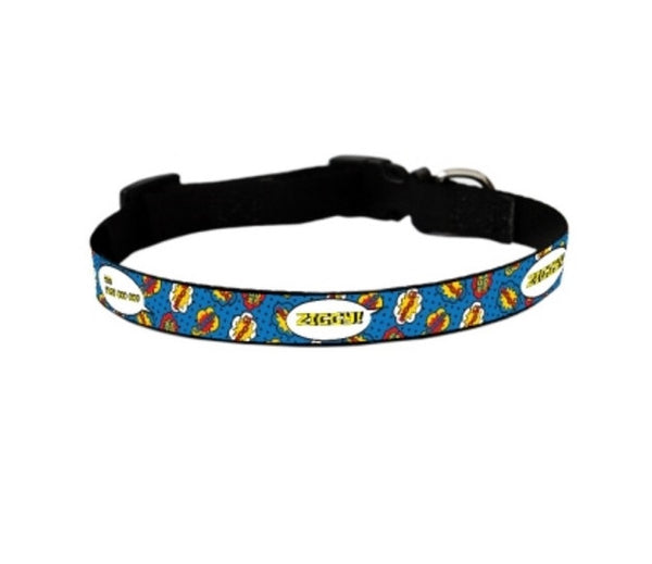 Comic Pop Personalized Pet Collar