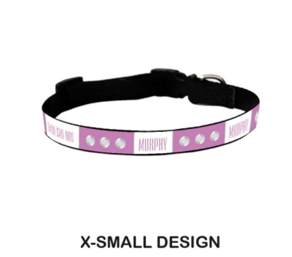 Bejeweled Personalized Pet Collar