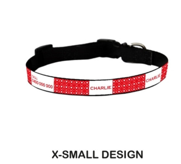 Valentine Personalized Pet Collar