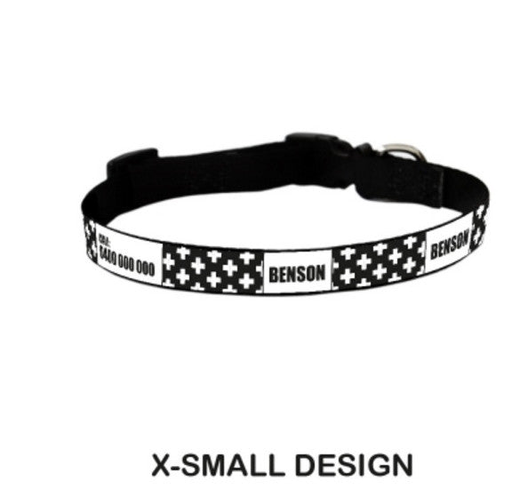 Cross Personalized Pet Collar